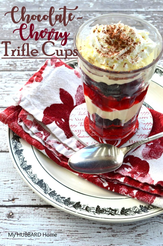 Chocolate-Cherry Trifle Cups