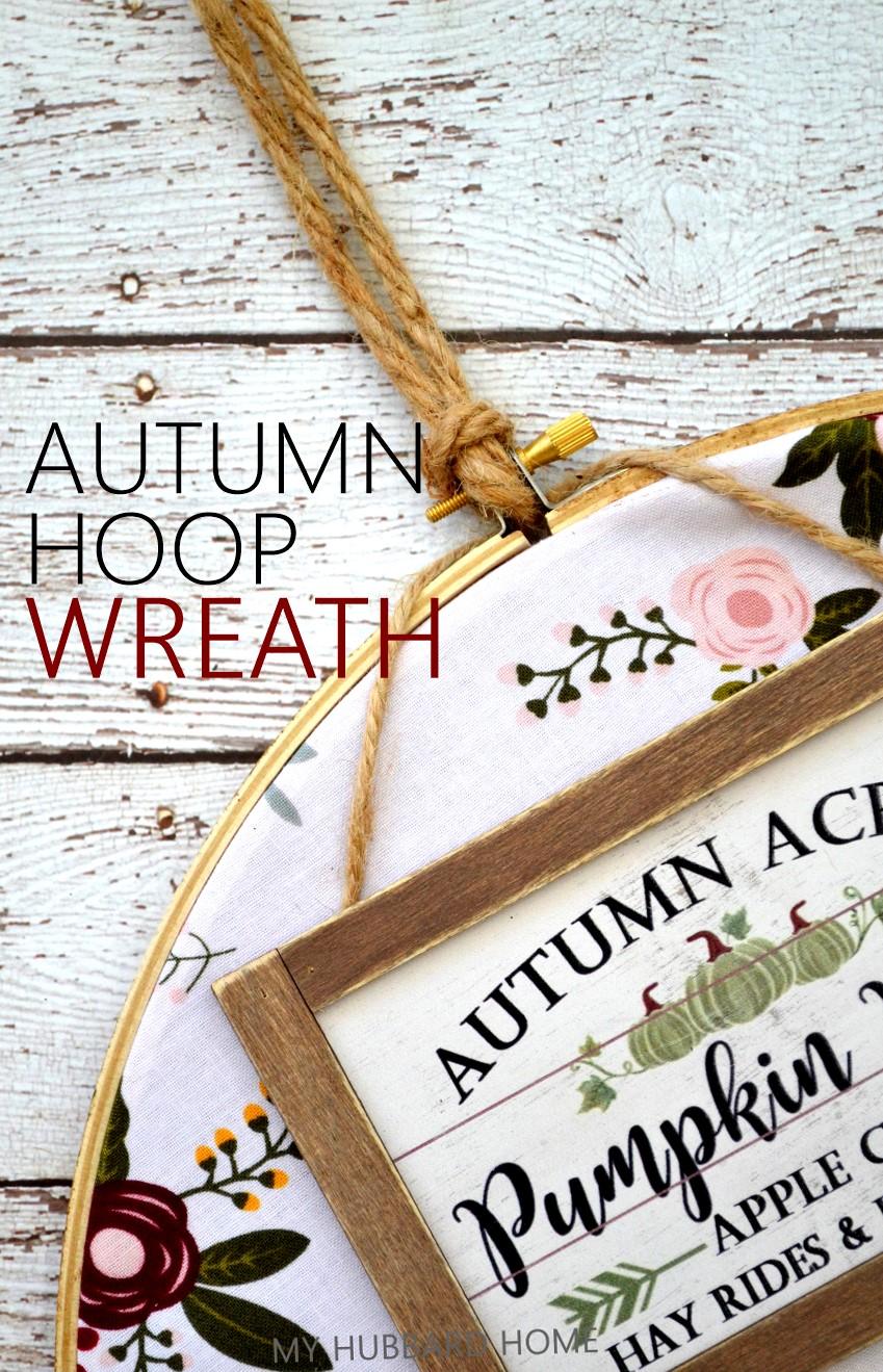 Autumn Hoop Wreath - Fall Porch Ideas
