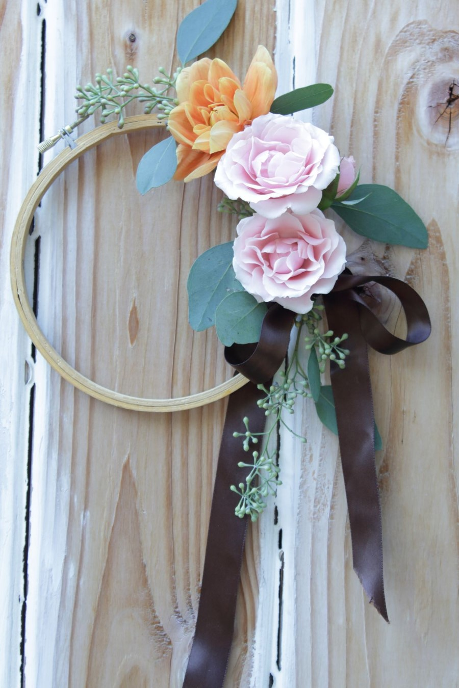 1 Barbara Mantel and Table - flower wreath for fall