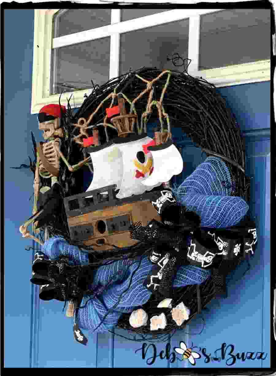 Festive Halloween Door Decor